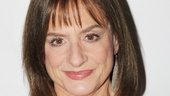 Patti ditches her silver wig and prison uniform for a much more glamorous opening night look.