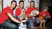 Broadway Barks 2013 — Drew Gehling — Dominic Scaglione Jr. — Matt Bogart — Andy Karl