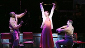 Joshua Henry as Flick, Sutton Foster as Violet & Colin Donnell as Monty in Violet