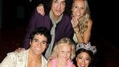 Aladdin - Paul Stanley Visit - Adam Jacobs - Paul Stanley - Sarah Stanley - Erin Stanley - Courtney Reed