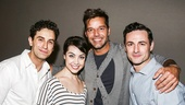 An American in Paris - Backstage - 6/15 - Brandon Uranowitz - Leanne Cope - Ricky Martin - Max von Essen