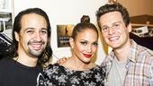 Hamilton - backstage - 8/15 -  Lin-Manuel Miranda, Jennifer Lopez - Jonathan Groff