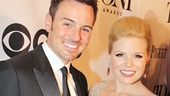 Tony Red Carpet- Brian Gallagher- Megan Hilty