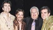 Something Rotten - backstage - 4/15 - John Cariani - Christian Borle - Harvey Fierstein - Brian D'Arcy James