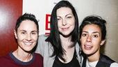 Fun Home - backstage - 7/15 - Beth Malone, Laura Prepon - Roberta Colindrez