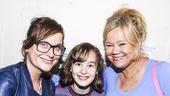 Fun Home - backstage - 7/15 - Amy Poehler, Sydney Lucas and Caroline Rhea