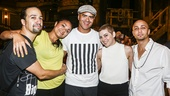Hamilton - backstage - 8/15 - Lin Manuel Miranda, Karen Olivo, Christopher Jackson, Krysta Rodriguez and Seth Stewart