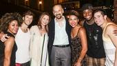 Hamilton - backstage - 8/15 - Ariana DeBose, Thayne Jasperson, Donna Murphy, her husband Shawn Elliot, Emmy Raver-Lampman, Okieriete Onaodowan and Jon Rua