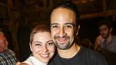 Hamilton - backstage - 8/15 - Krysta Rodriguez and Lin-Manuel Miranda