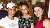 Hamilton - backstage - 8/15 - Renee Elise Goldsberry, Jennifer Lopez and Phillipa Soo