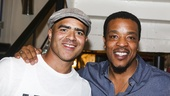 Hamilton - backstage - 8/15 - Christopher Jackson and Russell Hornsby