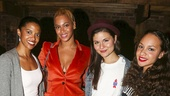 Hamilton - Backstage - 10/15 - Renee Elise Goldsberry, Beyonce, Phillipa Soo and Jasmine Cephas Jones