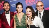On Your Feet! - Opening - 11/15 - Josh Segarra and Ana Villafane with Gloria and Emilio Estefan.