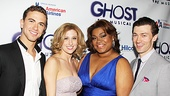 Richard Fleeshman, Caissie Levy, Da'Vine Joy Randolph and Bryce Pinkham get together for a glowing Ghost portrait. Welcome to Broadway!