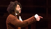 Daveed Diggs as Thomas Jefferson and Lin-Manuel Miranda as Alexander Hamilton in Hamilton
