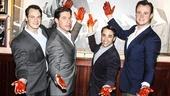 Jersey Boys - Buca Di Beppo - 4/15 - Matt Bogart - Richard H. Blake - Joseph Leo Bwarie - Quinn VanAntwerp