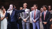 Hamilton - Opening - 8/15 - Lin-Manuel Miranda with set designer David Korins, choreographer Andy Blankenbuehler and Music director Alex Lacamoire