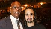 Hamilton - Opening - 8/15 - Samuel L. Jackson and Lin-Manuel Miranda