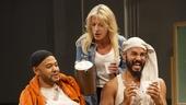 Ryan Quinn as Source, Sherie Rene Scott as The Volunteer, and Nicholas Christopher as Rick in Whorl Inside a Loop