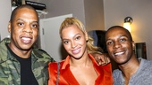 Hamilton - Backstage - 10/15 - Jay Z, Beyonce and Leslie Odom Jr.