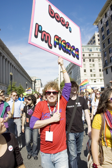 Hair at the National Equality March - Jay Armstrong Johnson