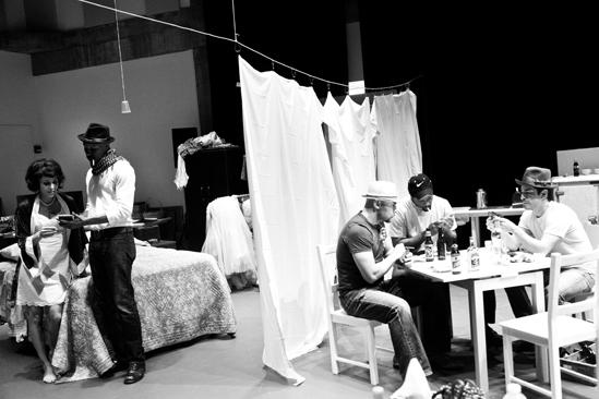 Streetcar Named Desire rehearsal – Nicole Ari Parker – Wood Harris – Jacino Taras Riddick – Blair Underwood – Matthew Saldivar