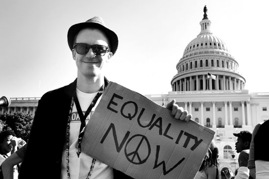 Hair at the National Equality March - Gavin Creel - Equality Now