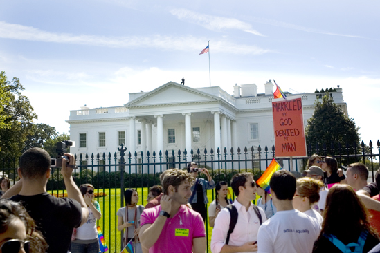 Hair at the National Equality March - White House