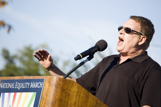 Hair at the National Equality March - Cleve Jones