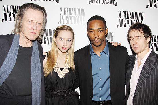 Behanding in Spokane Opening Night – Christopher Walken – Zoe Kazan – Anthony Mackie – Sam Rockwell (party)