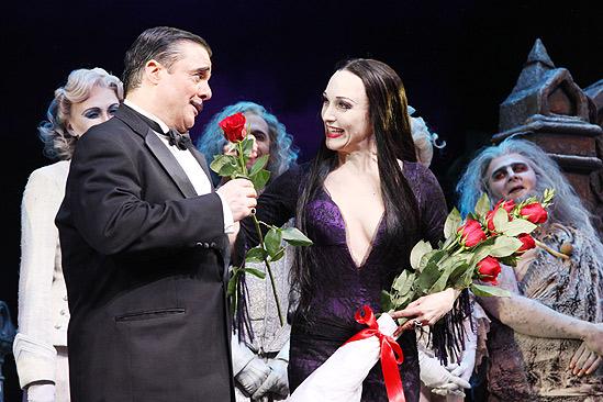 The Addams Family opening – cc -Nathan Lane – Bebe Neuwirth rose