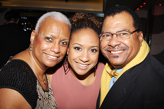 <i>Stick Fly</i> Opening Night – Tracie Thoms and parents