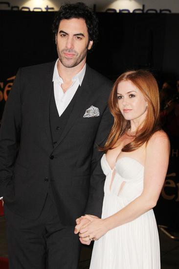 Les Miserables London premiere – Sacha Baron Cohen – Isla Fisher