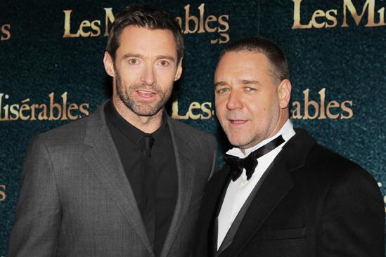Les Miserables London premiere – Hugh Jackman – Russell Crowe
