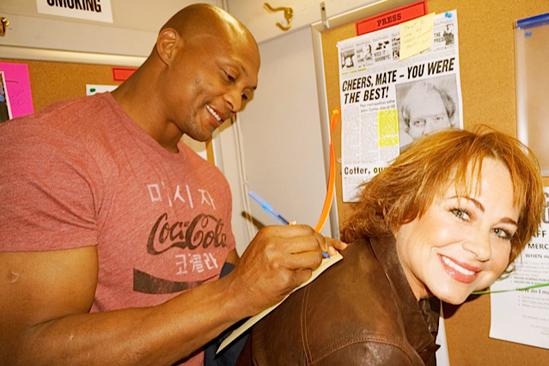 Courtney B. Vance Backstage at 'Lucky Guy' — Eddie George — Deirdre Lovejoy