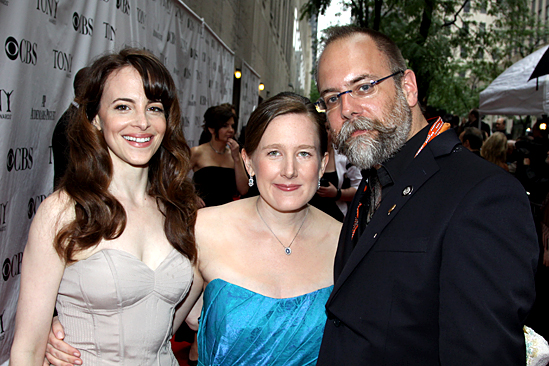 2010 Tony Awards Red Carpet – Maria Dizzia – Sarah Ruhl – David Zinn