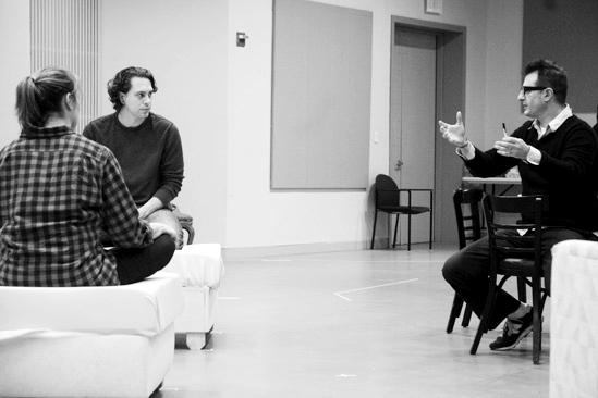 Other Desert Cities Rehearsal – Thomas Sadoski – Elizabeth Marvel – Jon Robin Baitz