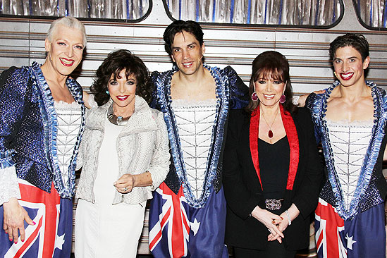 Priscilla Collins - Tony Sheldon - Joan Collins - Will Swenson - Jackie Collins - Nick Adams  2