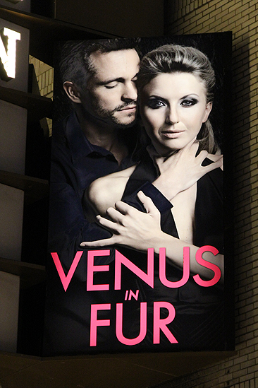 Venus in Fur Broadway Opening Night – marquee