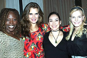 Brooke Shields Chicago Farewell Party - Michelle M. Robinson - Brooke Shields - Gabriela Garcia - Bryn Dowling