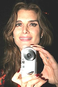 Brooke Shields Chicago Farewell Party - Brooke Shields with camera