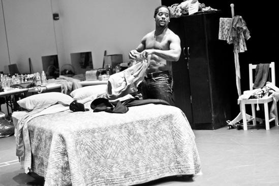 Streetcar Named Desire rehearsal – Blair Underwood