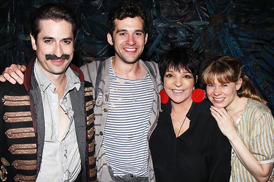 Liza Minnelli and more at Peter and the Starcatcher – Matthew Saldivar – Adam Chanler-Berat – Liza Minnelli – Celia Keenan-Bolger