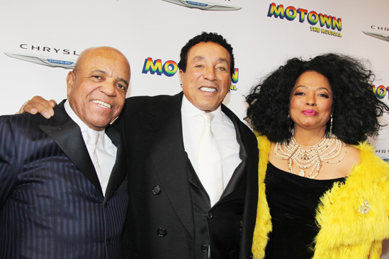 'Motown' Opening Night — Berry Gordy — Smokey Robinson — Diana Ross