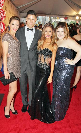 Tony Red Carpet- Kate Rockwell- Jason Gotay- Elle McLemore- Ryann Redmond