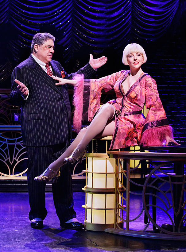 Bullets Over Broadway - Show Photos - PS - 4/14 - Vincent Pastore - Helene Yorke
