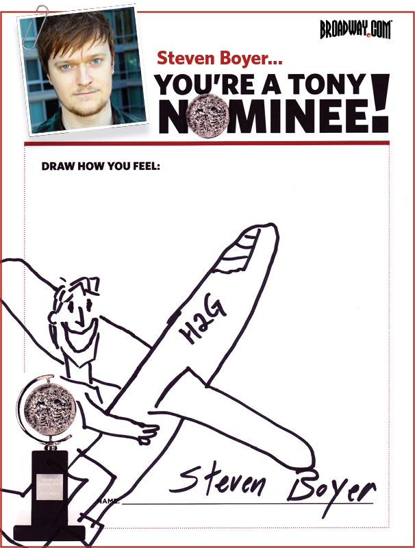Tony Nominee Drawings – 2015 – Steven Boyer