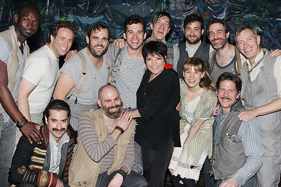 Liza Minnelli and more at Peter and the Starcatcher – Liza Minnelli – the cast of Peter and the Starcatcher