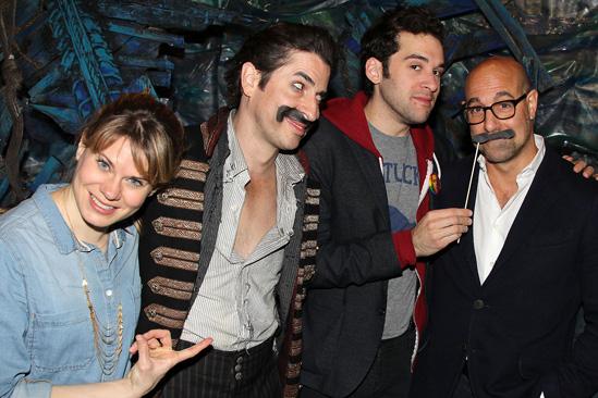 Stanley Tucci at Peter and the Starcatcher - Matthew Saldivar - Adam Chanler-Berat - Stanley Tucci
