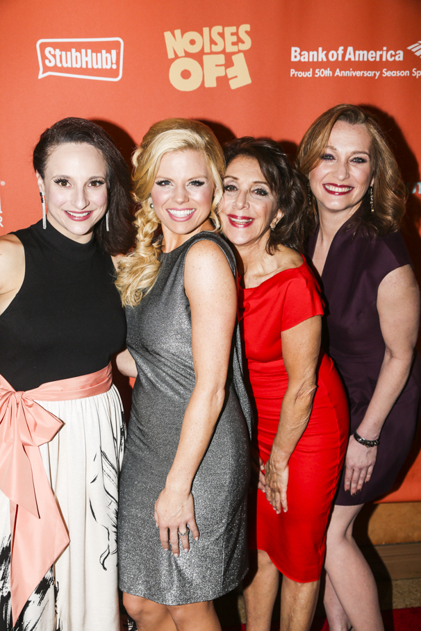 Noises Off - Opening - 1/16 - Tracee Chimo, Megan Hilty, Andrea Martin and Kate Jennings Grant
